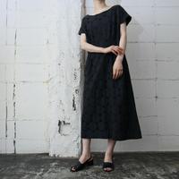 Collarless  Circle Pattern  Dress BK