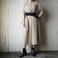 Band Collar Flared Dress BE