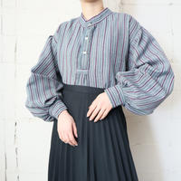 Volume Sleeve Stripe Blouse GR