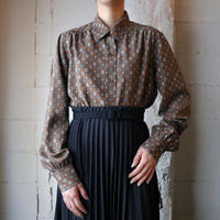 Small Pattern Silk Shirt BR
