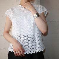 1960's EURO Lace Bodice Cap Sleeve WH