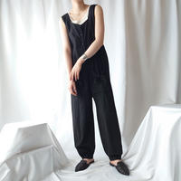 Sleeveless Square Neck Jumpsuit BK