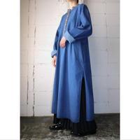 Embroidery Denim Long Shirt BL
