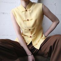 Sleeveless China Shirt YE