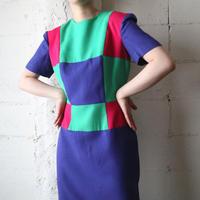 Collarless Panel Dress PURPIGN