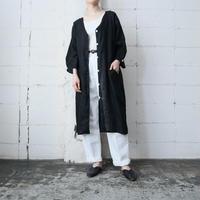Linen Long Jacket BK