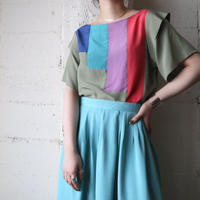 Tiered Sleeve Design Blouse KA
