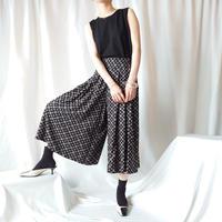 Small Pattern Gaucho Pants BK