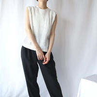 60's EURO Pleated Sleeveless Blouse WH