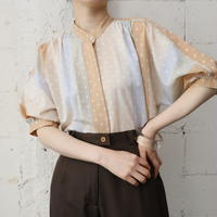 70's EURO Puff Sleeve Stripe Blouse ORBE