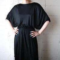 Short Sleeve Gather Dress BK