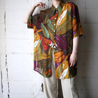 Leaf Pattern See Through Shirt BRKA