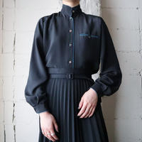 Piping Stand Collar Blouse BKBL