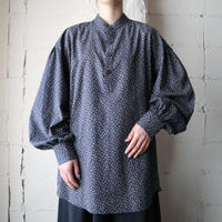 Leaf Pattern Volume Sleeve Shirt NV