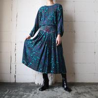 Paisley Pattern Rayon Dress GNPUR