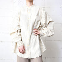 Band Collar Stripe Shirt IVNV