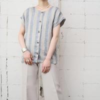 Front Button Stripe Blouse GR