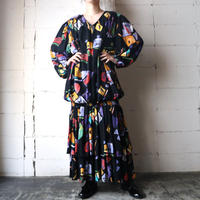 Paint Pattern Design Dress BK