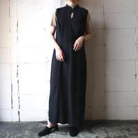 Peekaboo Design Sleeveless Dress BK
