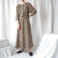 Flower Pattern Sheer Dress BKRE