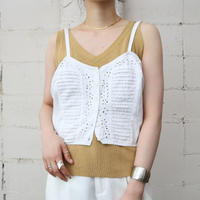 60's Cutwork & Pleated Camisole WH