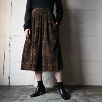 Paisley Pattern Corduroy Skirt BR