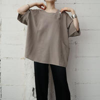 Wide Silhouette Side Button Blouse BE