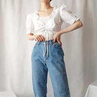 70's Tyrolean Short Blouse WH