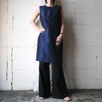 Sleeveless Embossed Dress NVBK