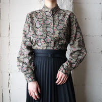 Stand Collar Paisley Blouse BKGR