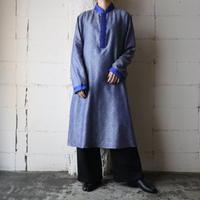 Mao Collar Ethnic Long Shirt  BL