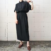 Round Collar  Dolman Sleeve Dress BK
