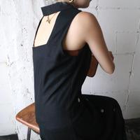 Back Open Sleeveless Shirt Dress BK