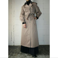 Removable Collar Trench Coat With Liner BE