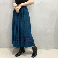 Paisley Pattern Flared Skirt BL