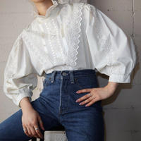 Vintage Stand Collar Lace Blouse IV