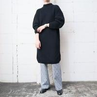 Mock Neck Knit Dress BK