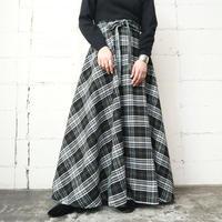 Check Maxi Skirt BKWH