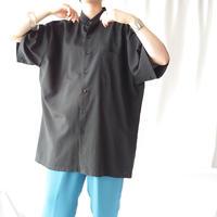 Wide Silhouette Band Collar Shirt BK