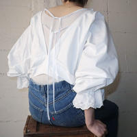 1920's EURO Back String Blouse WH