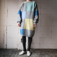 Color Block Knit Dress GR