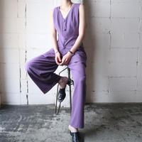 Sleeveless Tops Tuck Pants Setup PUR