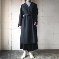 Round Collar Trench Coat BK