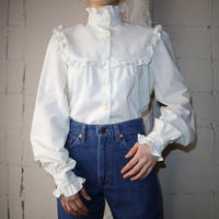 Frilled stand collar&York Blouse  IV