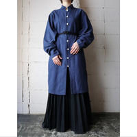 Stand Collar Long Shirt Jacket NV