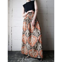1970's Vintage Arabesque Pattern Skirt ORBK
