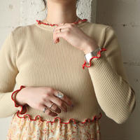 Frilled Short Rib Knit BE RE