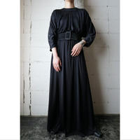Tuck Bodice Long Dress BK