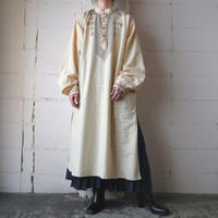 Embroidery Stand Collar Long Shirt IV