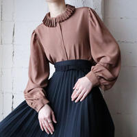 Pleated Collar Blouse BR